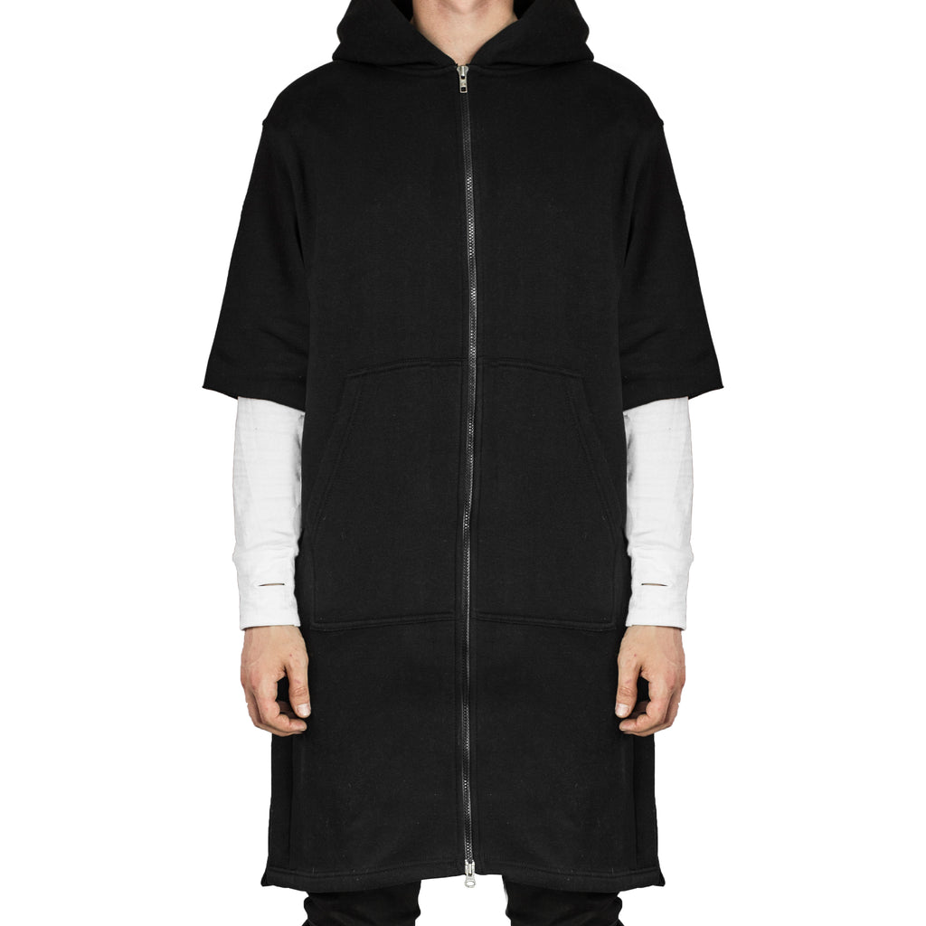 Shortsleeve Trench-Hoody : Black