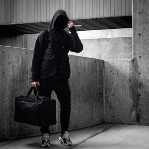Logo Duffle Bag : Black/Black