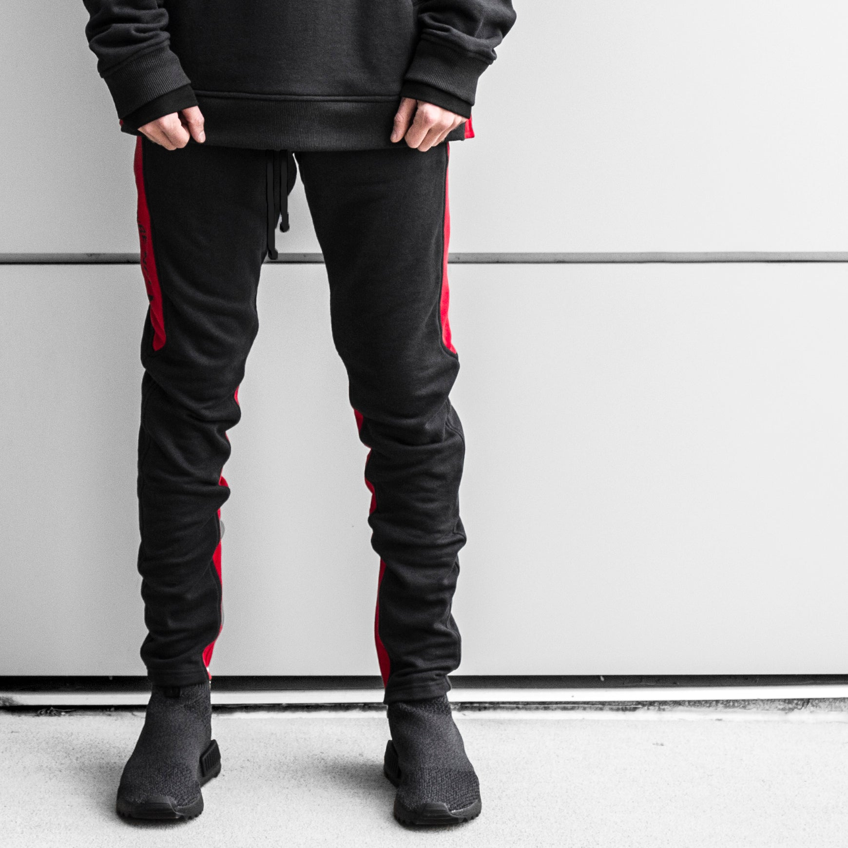 YNM Ankle Zip Trackpants : Bred