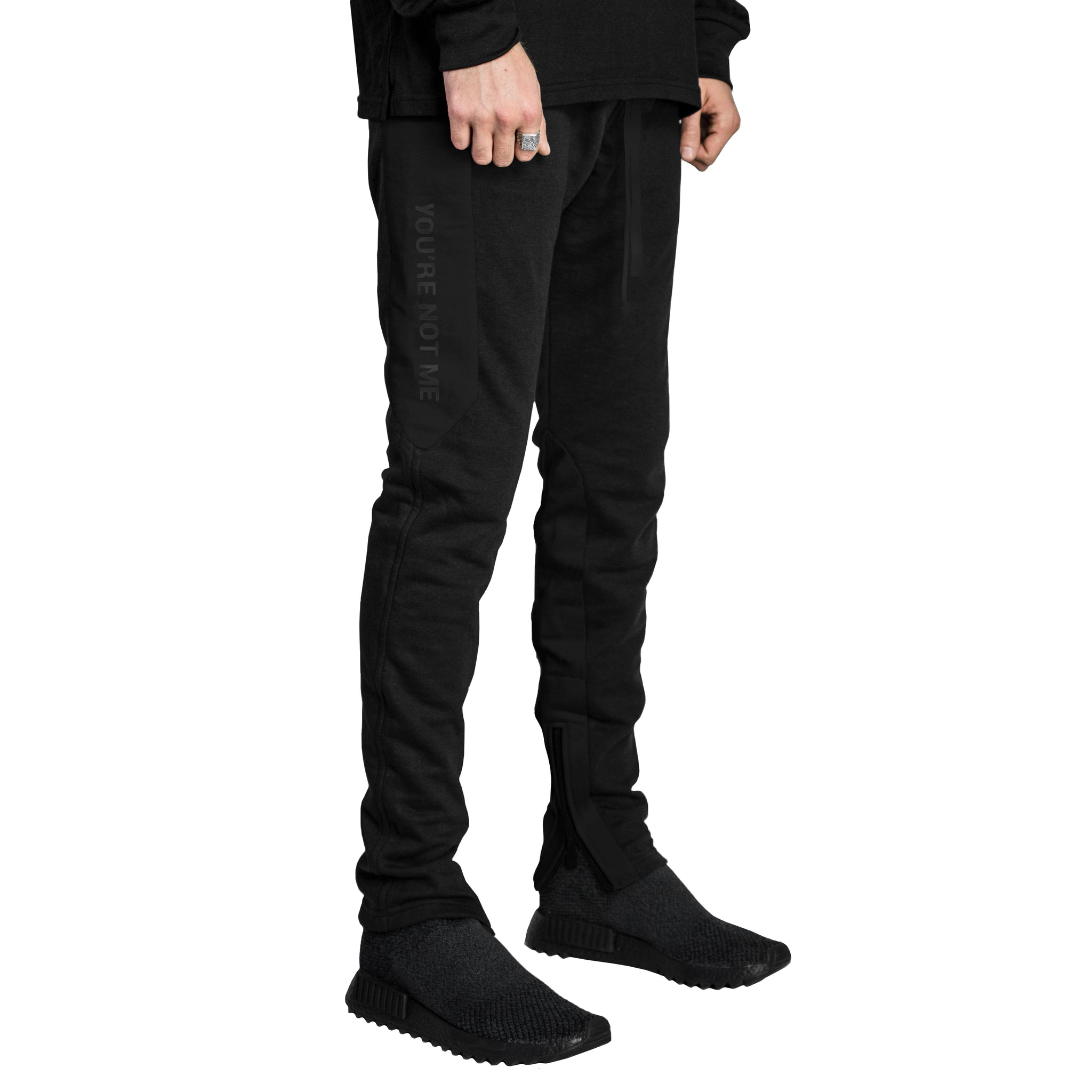 YNM Zip Trackpants : Black