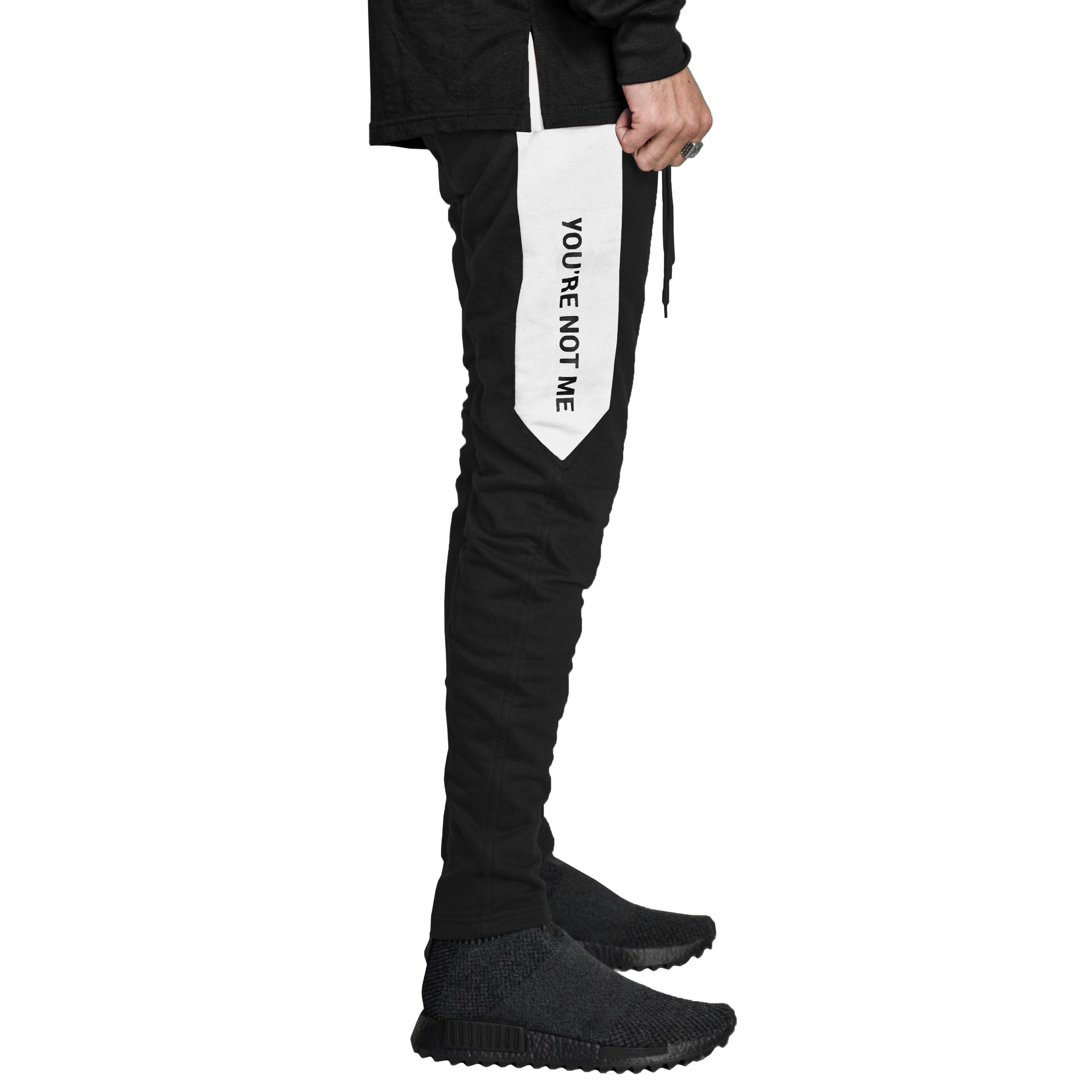 YNM Zip Trackpants : Black/White
