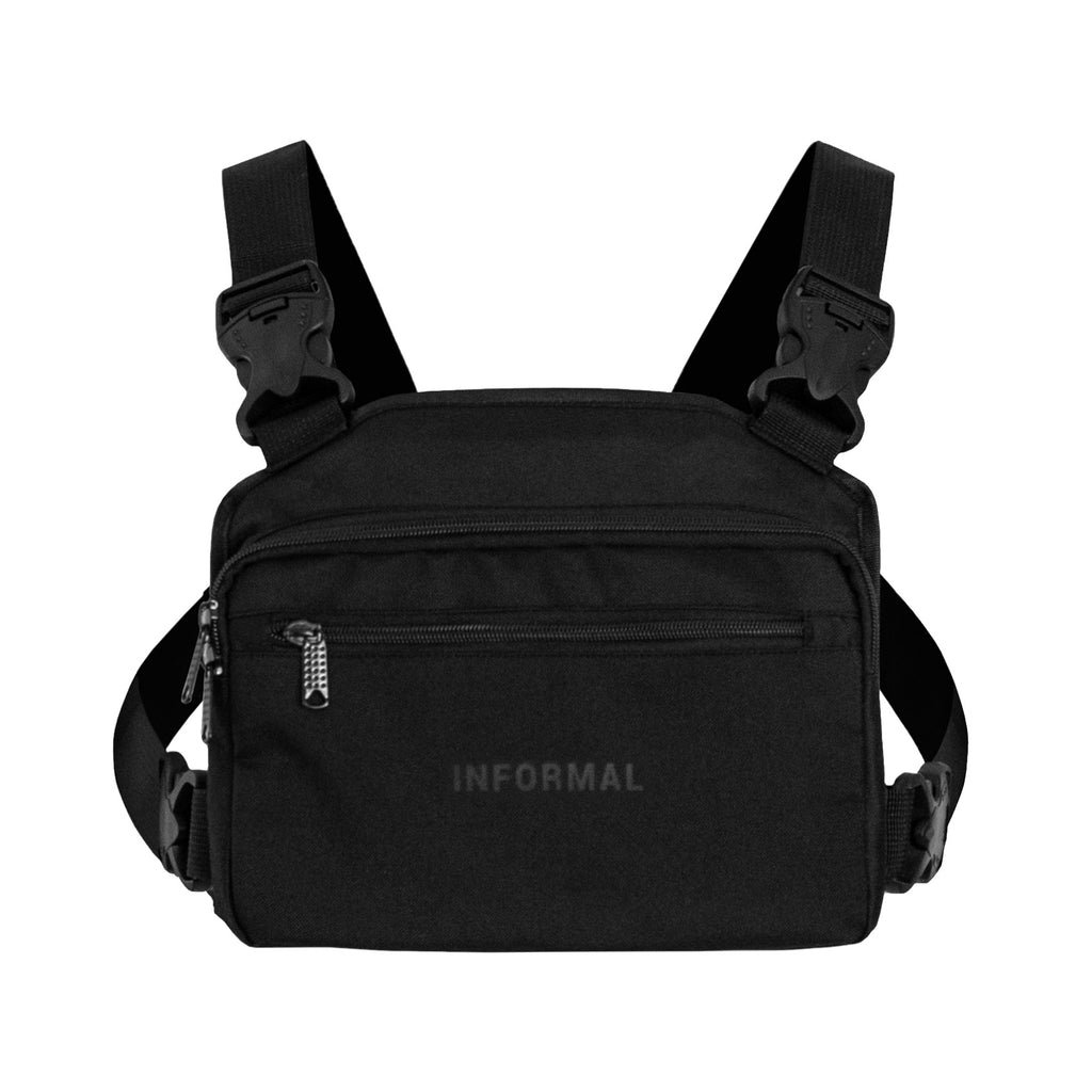 Logo Chest Pack : Black
