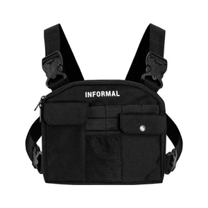 Logo Chest Bag : Black