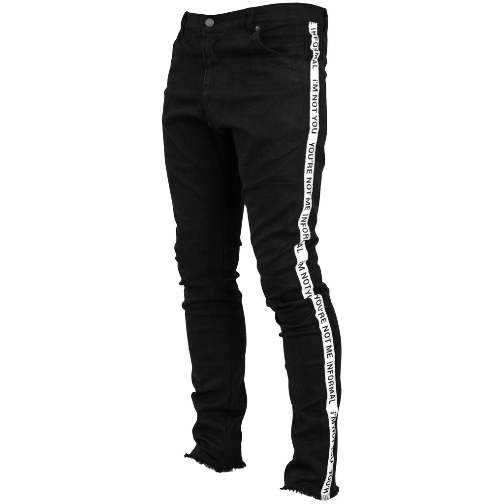 Taped Jeans : Black