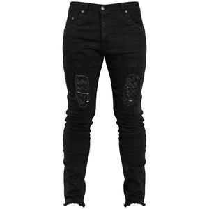 Distressed Jeans : Black
