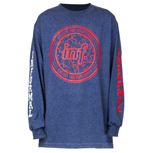 Negative Camo L/S Tee : Heather Denim
