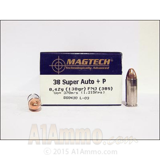 MGT 38SUP 130GR FMJ
