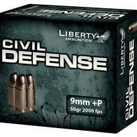 LIBERTY 9MM 50GR CIVIL DEFENSE