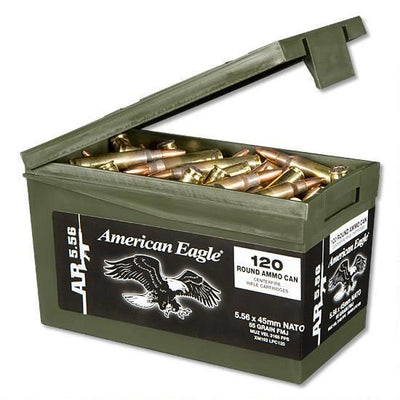 FED 5.56 55GR FMJ MINI CAN 120