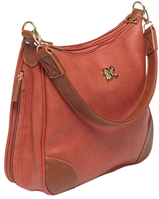 BDC HOBO PURSE W/HOL RED/TAN
