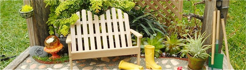 Miniature Garden with Adirondack Bench