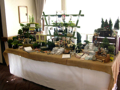 Our miniature garden table at a local miniature show.