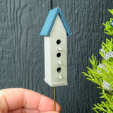 Blue & Silver Birdhouse - Large