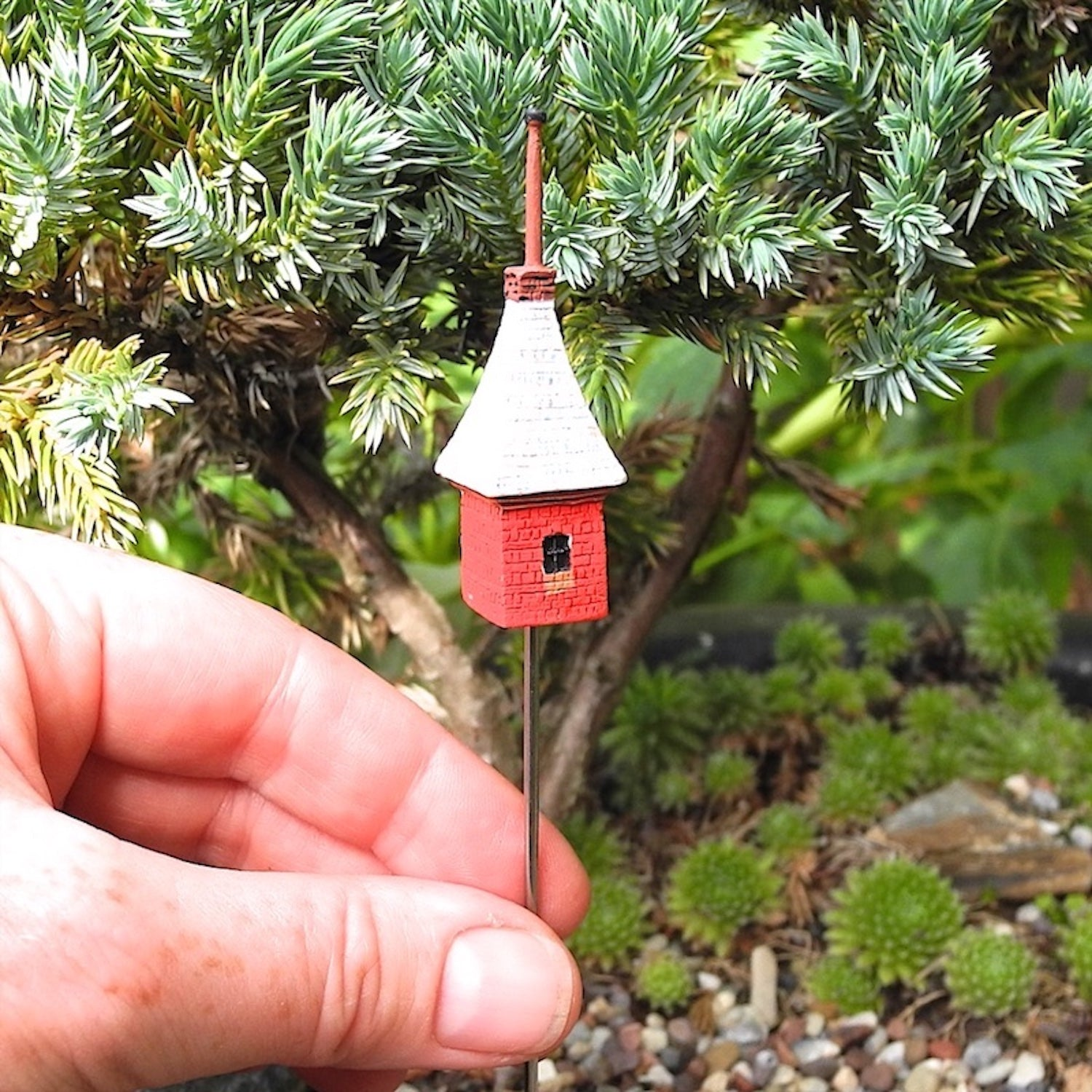 Red Birdhouse with Steeple