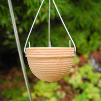 Terra Cotta Hanging Pot, Ribbed, with Hook