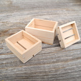 Miniature Wood Crates, Set of 3