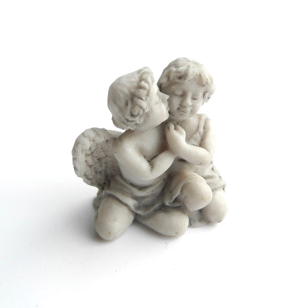 Cherub Angel with Girl Statue