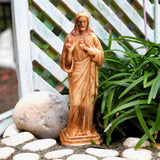 Jesus Statue, Faux Wood, Staked