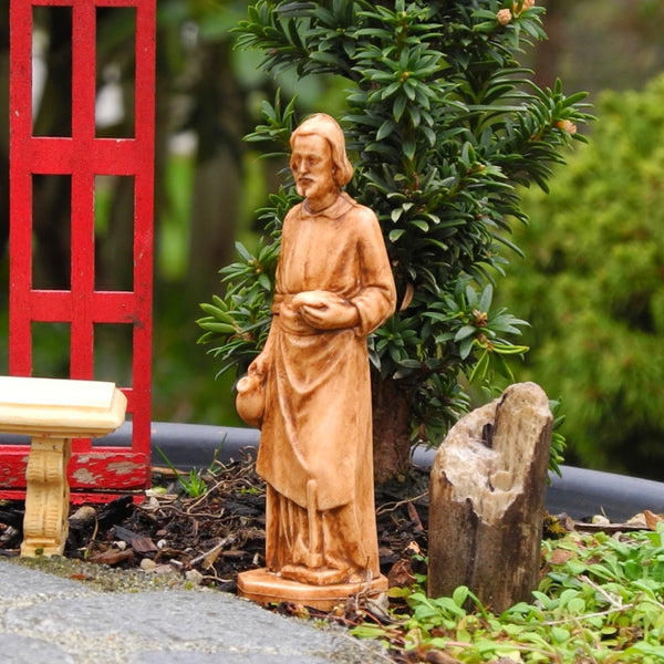 Joseph Statue, Faux Wood, Staked