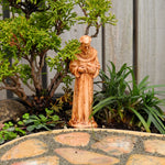 St. Francis of Assisi Statue, Faux Wood, Staked, Large
