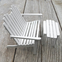 Adirondack Garden Bench & Table, White