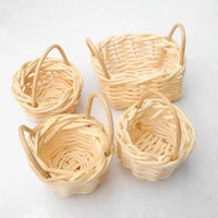 Mini Willow Baskets, Set of 4