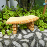Small Curved Garden Bench, Staked