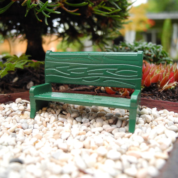 Tiny Green Bench, Medium Size