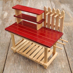 Red Potting Bench