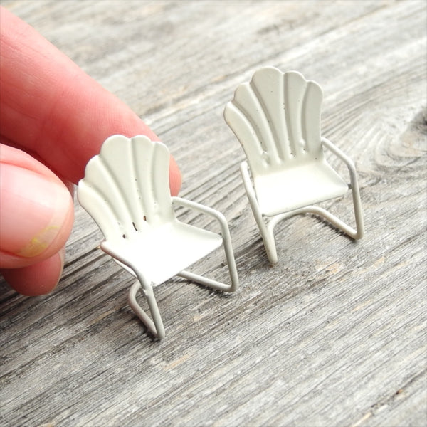 Miniature Clam Shell Chairs, Medium, Set of 2