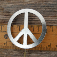 Peace Sign Garden Art Metal Silhouette