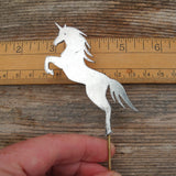 Unicorn Garden Art Metal Silhouette