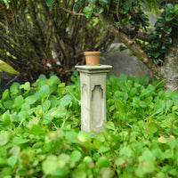Wee Pot on Pedestal, Ancient Green
