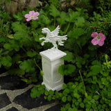 Miniature Pegasus on a Pedestal, Faux Marble