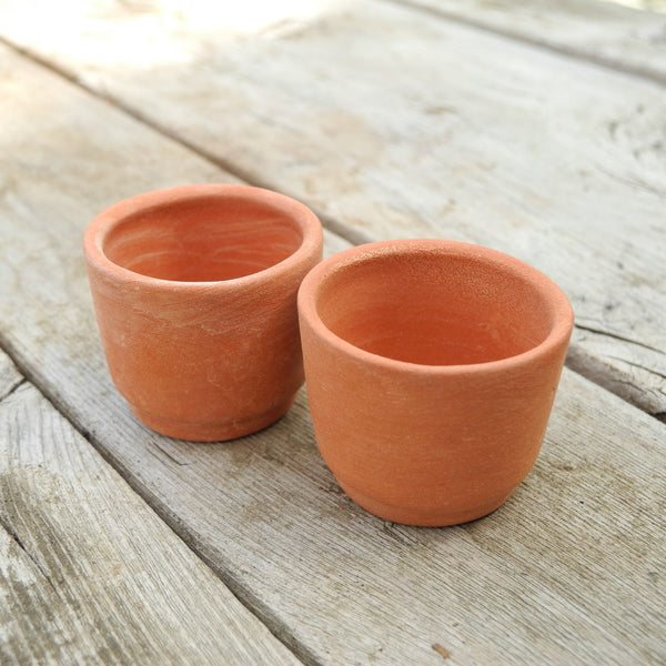 Terra Cotta Planter Set of 2, Cylinder