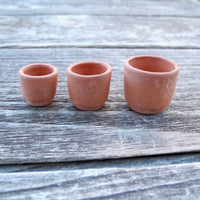 Terra Cotta Cylinder Pots, Set of 3, Tiny