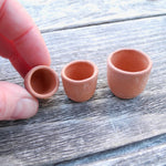 Terra Cotta Cylinder Pots, Set of 3