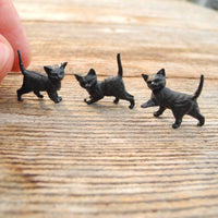 Miniature Halloween Kitties, Set of 3