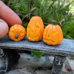 Miniature Carved Pumpkins, Set #2