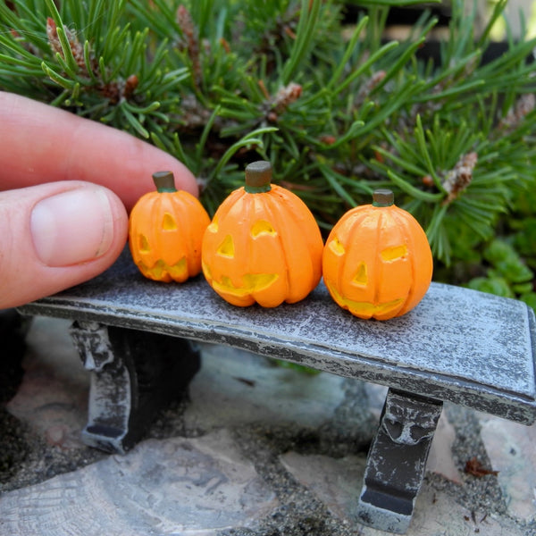 Miniature Carved Pumpkins, Set #1