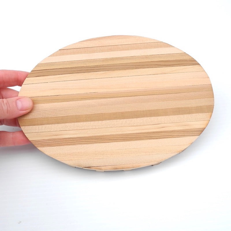 Real Mini Cedar Deck, Handmade, Oval, Large