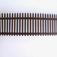 Metal Rustic Picket Fence with Stakes