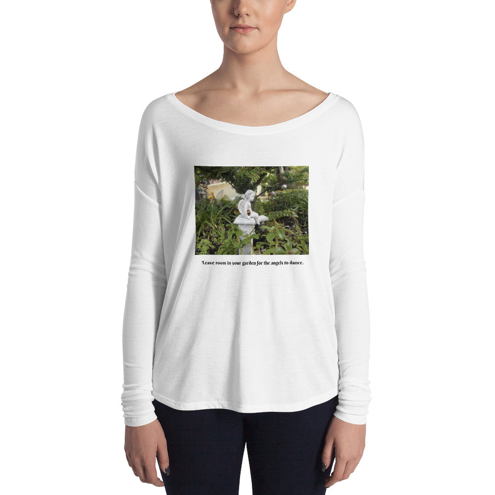 Garden Angel with Ladybug - Ladies' Long Sleeve Tee