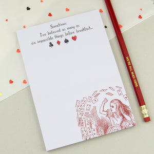 Alice in Wonderland Notepad - Literary Emporium