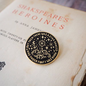 Beatrice Much Ado About Nothing Enamel Pin - Shakespeare's Heroines Collection