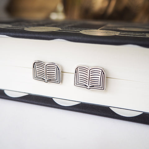 Book Stud Earrings