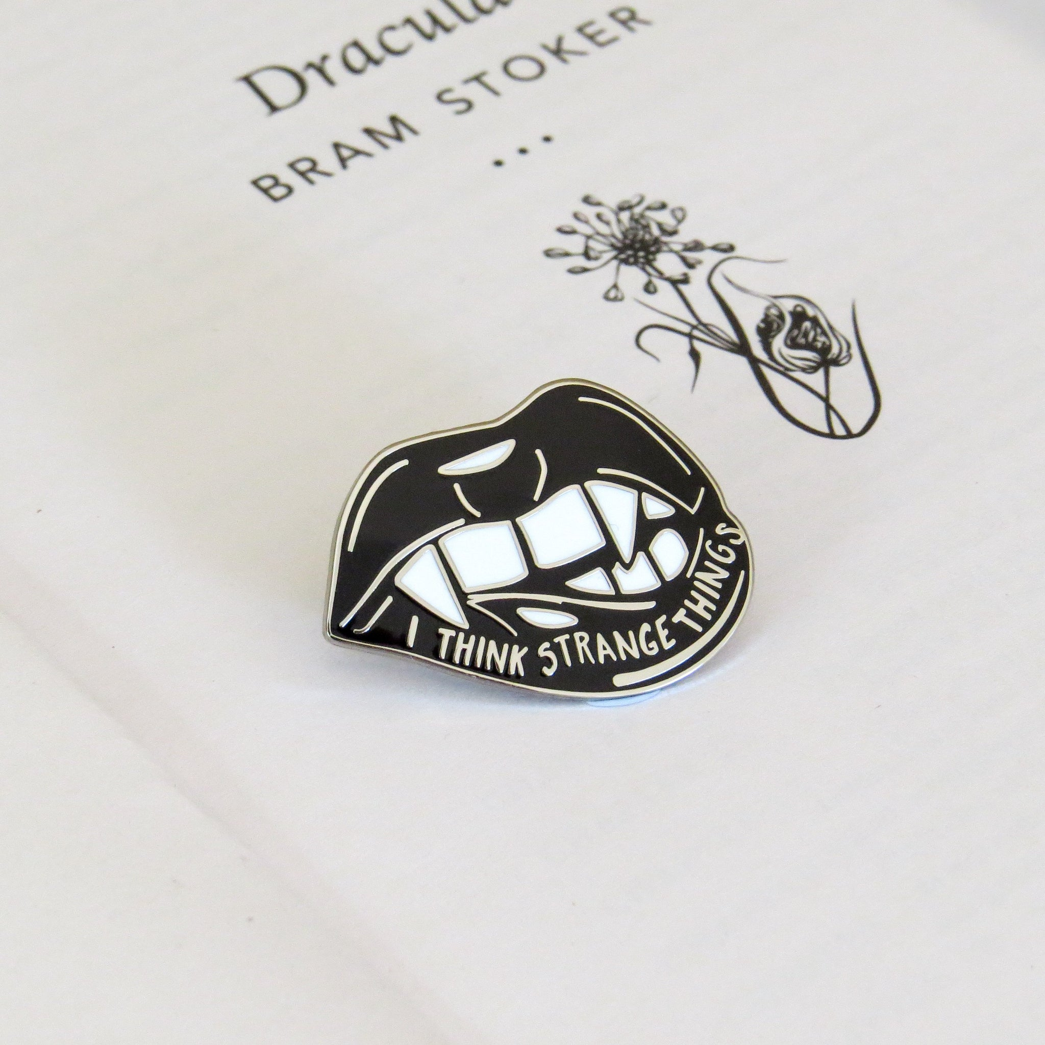 Dracula Enamel Pin - Gothic Literature Collection
