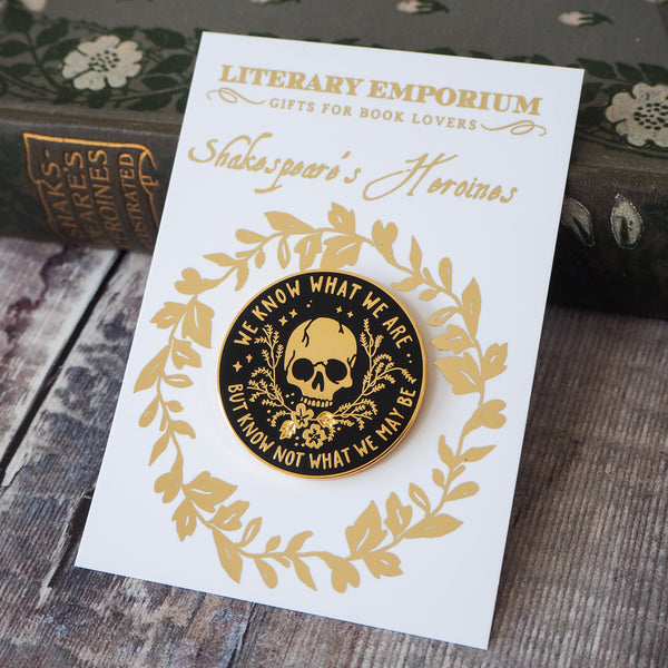 Ophelia Enamel Pin - Shakespeare's Heroines Collection