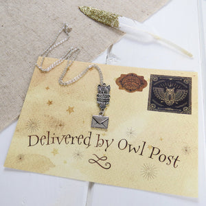 Owl Post Necklace - Literary Emporium