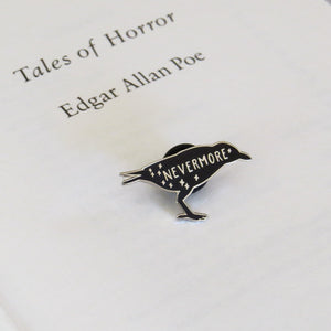 The Raven - Edgar Allan Poe Enamel Pin - Gothic Literature Collection